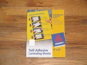 10 Self Laminating Sheets Avery 73603 Adhesive 3mil