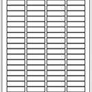 "6 sheets 1/2""x1-3/4"", blank white stickers labels matte"