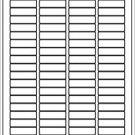(2000 labels) white return address mailing blank laser