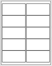 (Blank Printer Labels) 4 x 2 ink jet laser copier matte white rectangular