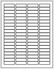 Self adhesive address shipping labels stickers white