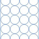 "(6 sheets) round blank 2"" inch white stickers sheets labels circle, made in USA"