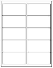 """(Blank Jar Labels) stickers white 2"""" x 4"""" printable can"""