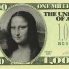Personalized $1,000,000 novelty bill money one million dollar fake funny gag