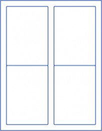 """100 blank shipping mailing 3.5""""x5"""" labels sticker white"""