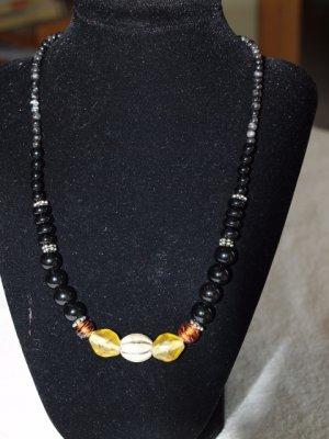 Black bead necklace