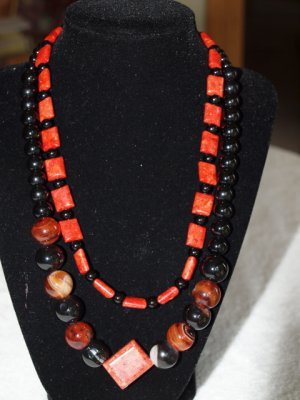 Bambo coral and agate