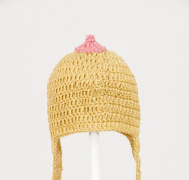 The Breast Hat Ever Earflap Hat, Crochet Tan Beanie, Send Size Baby - Adult