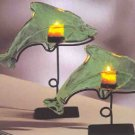 Green Dolphin Votive Holders