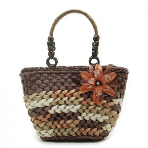 Brown Summer Straw Shoulder Bag Handbag TOTE