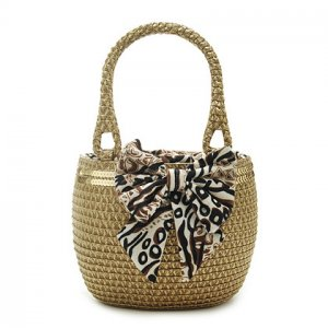 Paillette Coffee Straw Handbag BEACH BAG handmade tote
