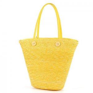 Yellow GARDEN COUNTRY STYLE Bag STRAW SHOULDERBAG HANDBAG TOTE