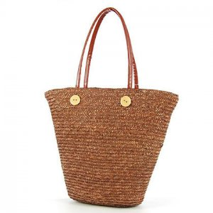 Orange GARDEN COUNTRY STYLE Bag STRAW SHOULDERBAG HANDBAG TOTE