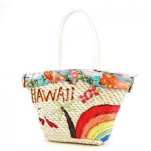 HAWAII Rainbow STRAW BAG SHOULDERBAG TOTE HANDBAG