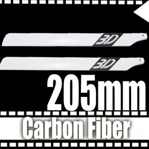 205mm 3D RC Helicopter Carbon Fiber Blade for Class 205 Free Shipping