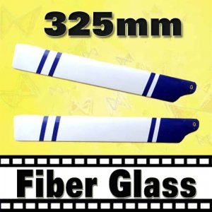 RC Helicopter Glass Fiber White Black 325mm Blade for Trex 450 Free Shipping