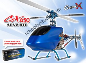 CopterX CX 450AE V2 RC Helicopter 2.4GHz RTF (Cartoned)