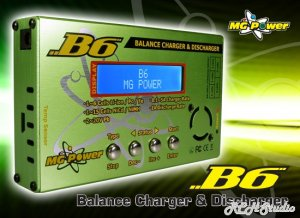 MG Power B6 Balance Charger is a premium balance charger for your RC Lipo Batteries