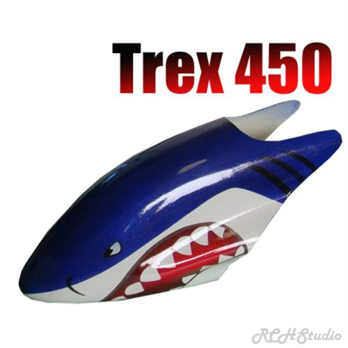 sc 1 st  eCRATER & Trex 450 RC Helicopter Canopy Shark Design
