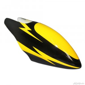 RC Helicopter Fiber Glass Canopy Accessory Yellow Black for Align Trex 450
