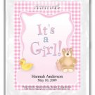It's A Girl-Gingham-Pink
