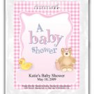 A Baby Shower-Gingham-Pink
