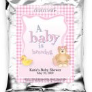A Baby Is Brewing-Gingham-Pink