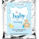 A Baby Is Brewing-Gingham-Blue