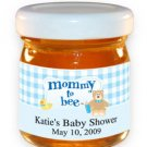 Mommy To Bee-Gingham-Blue