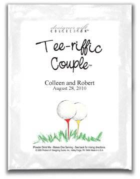 Tee-riffic Couple-Two Golf Balls on Tees