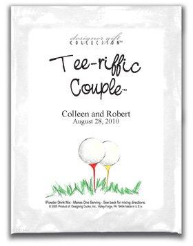 Tee-riffic Couple-Two Golf Balls on Tees