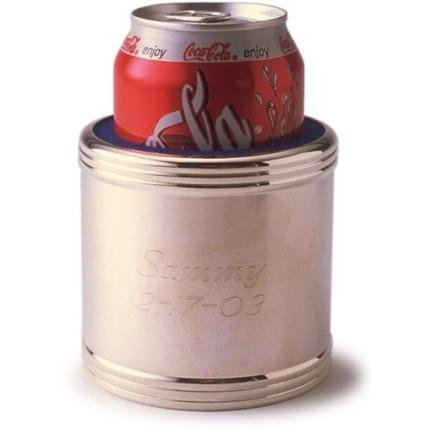 Silver Can Koozie