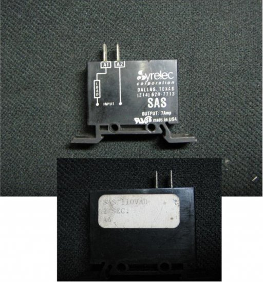 SAS 110VAD DELAY ON MAKE TIMER WITH SOLID STATE OUTPUT