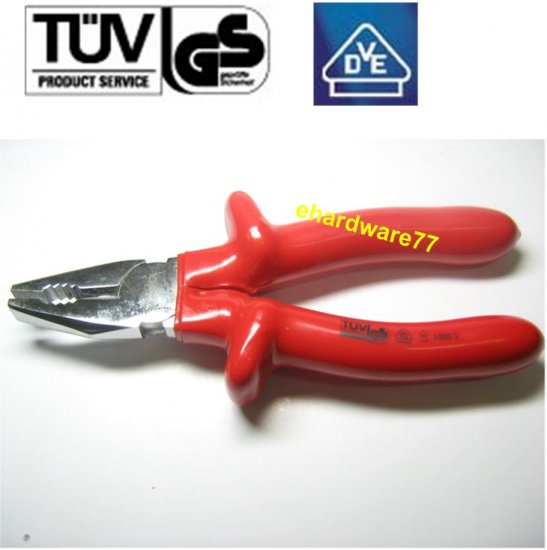 """VDE 1000V Insulated Lineman Pliers 7"""""""