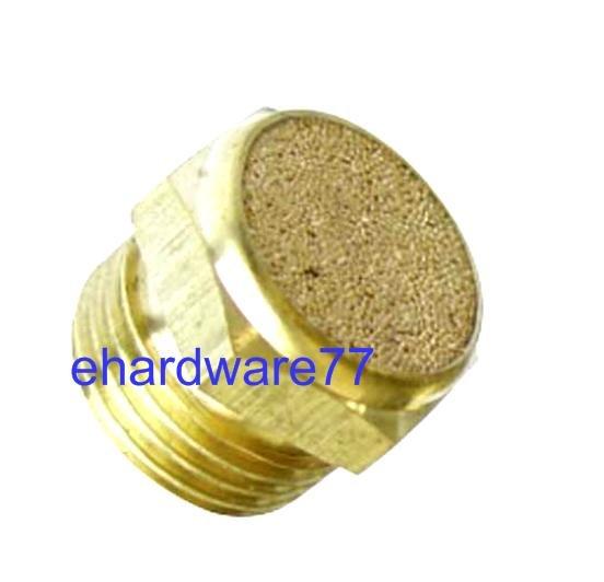 """Brass Flat Silencer 1/4"""" Thread"""