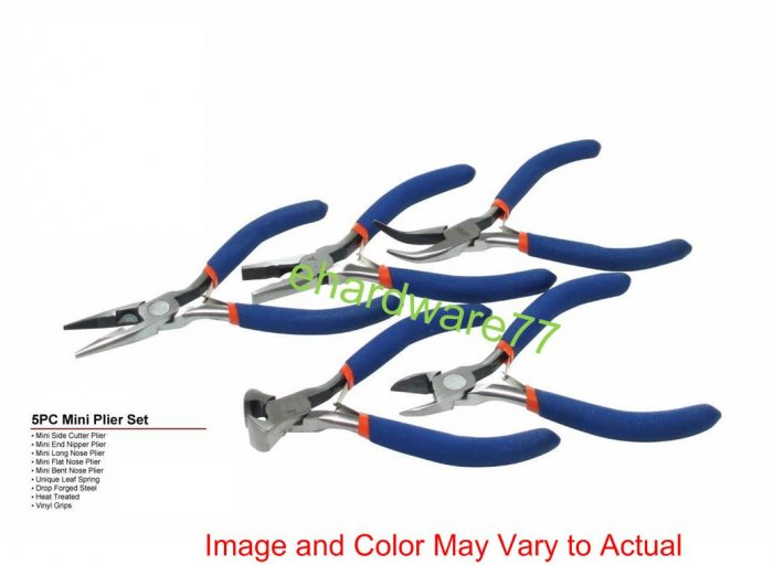 5pc Mini Pliers Set