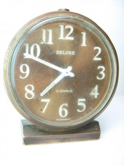 Antique Vintage DELUXE 2 JEWELS GERMANY Alarm Clock