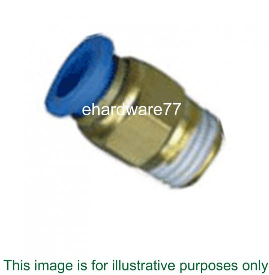 Push-in Straight Male Connector 8mmODx1/2""