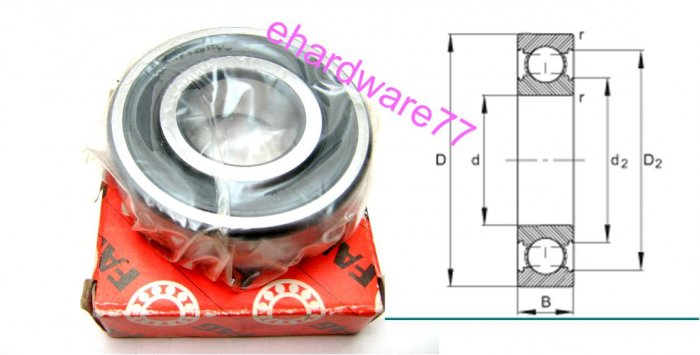 FAG - Deep Groove Ball Bearing 6201.2RSR.C3