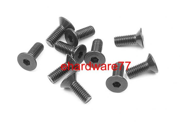 Countersunk Hex Socket Flat Screw M3x12mmL (10pcs)
