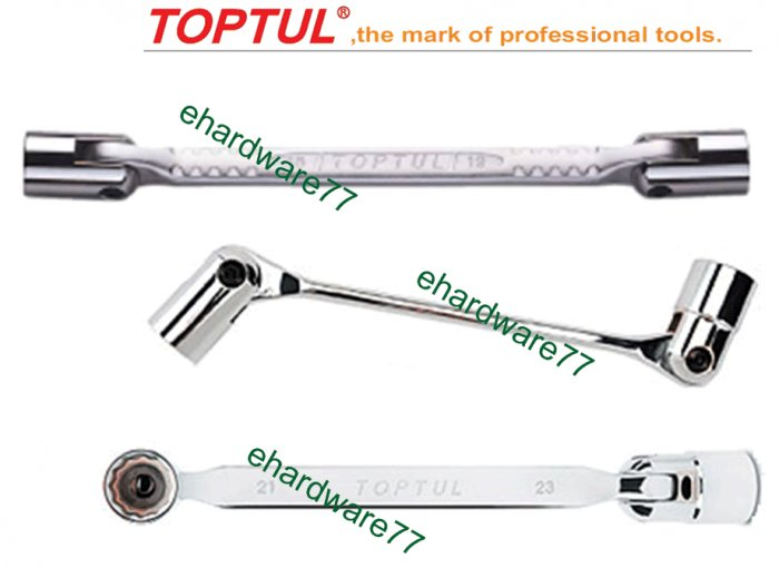 TOPTUL - Double End Swivel Socket Wrench 14mmx15mm (AEEC1415)