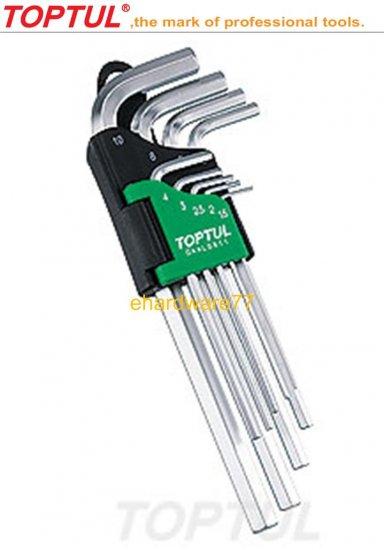 TOPTUL - 9pcs Long Hex Key Set (GAAL0911)