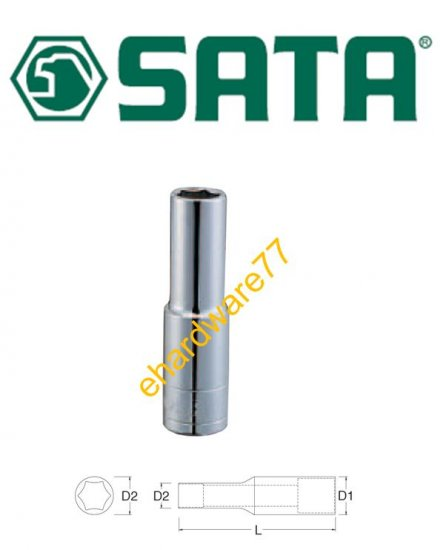"SATA - 1/2"" DR Deep Socket 13/16"" (6PT) (13208)"
