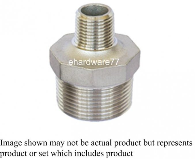 """Stainless Steel Reducer Nipple 1/2""""M x 3/8""""M"""