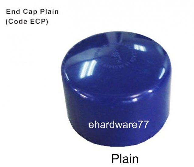 "ABS End Cap Plain 25mm (1"")"