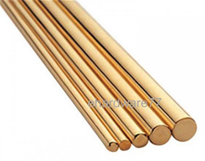 Round Solid Brass Rod 1.5mmO.D x 1 Meter L
