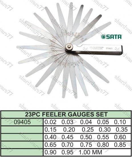 SATA 23PCS METRIC FEELER GAUGES (09405)