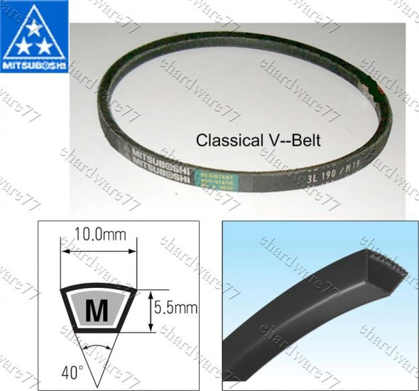 MITSUBOSHI CLASSICAL V-BELT M49