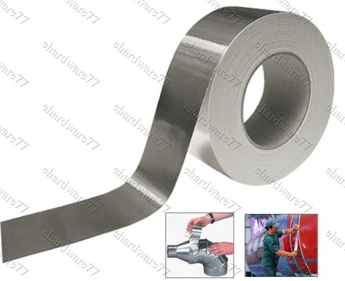 Flexible and strong bright aluminium tape 48mm x 50 Meter Roll (SA68)