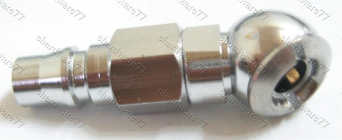 Ball Foot Tire Air Chuck With Male Quick Coupling